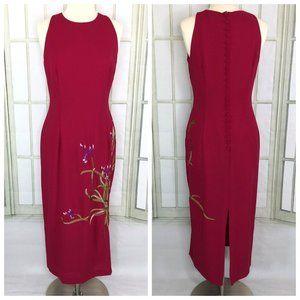 Donna Morgan Dress Sheath Midi Sleeveless